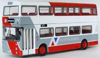 29007 EFE Daimler Fleetline GM Double Deck Bus Northumbria Services 1:76 Diecast
