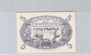 Martinique 5 Franchi L1901 L.353 N° 362 Pick 6