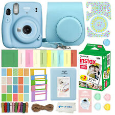 Fujifilm Instax Mini 11 Instant Camera Sky Blue 20 Fuji Films & More Accessories