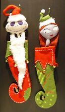 NIGHTMARE BEFORE CHRISTMAS Jack & Sally Stocking Set Limited MINT DISNEY NBC