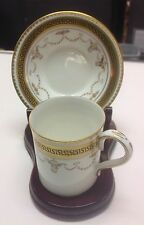 Milo HRM Duchess Of York Cup And Saucer With Wood Stand