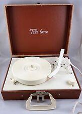 VINTAGE TELE-TONE CO. PORTABLE RECORD VINYL LP PLAYER 33/45 ALBUMS TURNTABLE