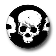 Skulls 1 Inch / 25mm Pin Button Badge Skeletons Ghosts Ghouls Enemy Bones Goth