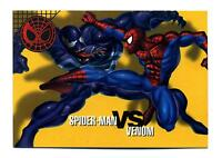 Fleer/Skybox 1996 Marvel Vision Card #25 Spider Brawls Card Venom