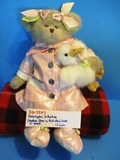 The Bearington Collection Brown Bear Daphne and Her White Duck plush(310-3347)