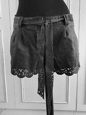 Next Signature real leather laser cut shorts skirt hot pants sz UK8-10EU36US6