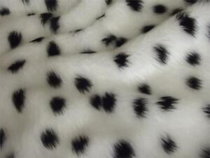 Animal Fun Faux Fur Fabric Material - DALMATIAN