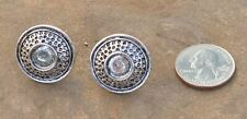 Clay Pigeon Whiter Flyer Cufflinks Antique Silver Plate Trap Shooting