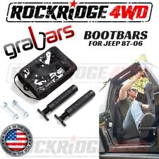 Bootbars (Foot Pegs) by Grabars BLACK Jeep Wrangler YJ TJ LJ 87-06 USA MADE