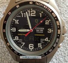 Rare Citizen Worldtime Titanium Watch