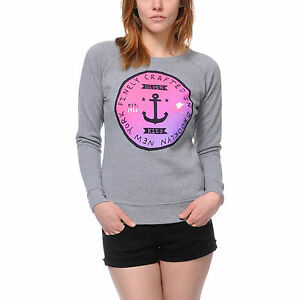NWT Glamour Kills Juniors Womens Brooklyn Made Crewneck Sweater Sweatshirt New