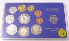 BRD Deutsche Mark Umlaufmünzenserie Adenauer Heuss Schumacher München coin D