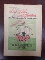 Tintin - Petit Vingtième- n°52 du 30/12/1937 (BELLE Couv. Nouvel an) TBE!!!