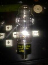 Rare beautiful perfect balanced 1958 western electric D getter 274B TUBE