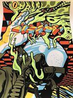 Pearl Jam 2018 Poster Lisbon, PT Print Eddie Vedder Artist Ames Glo Alive Show