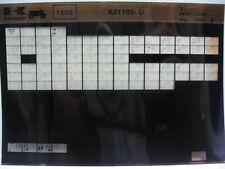 Kawasaki KZ1100 1981 Parts List Microfiche NOS k460