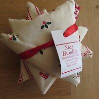 JOHN LEWIS Christmas Scandi Star Fabric Bundle -100% Cotton-5 Pieces- 52 x 52cm