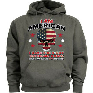 2nd Amendment Gun Rights Hoodie Mens Hooded Sweatshirt Gifts for Men