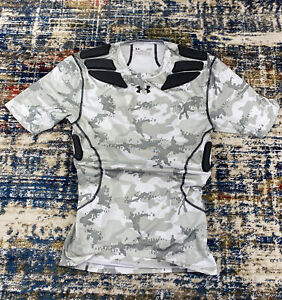 Under Armour Army Of 11 Heat Gear Compression Camo Camouflage Football Shirt L