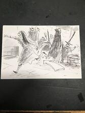 Tim Burton Nightmare Before Christmas Original Storyboard Art Artwork Charcoal