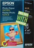 "Epson 4"" x 6"" Premium Glossy Photo Paper 50 Pack suitable for Inkjet Printer"