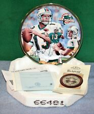 Dan Marino Miami Dolphins Passing Leader Decorative Plate - Bradford Exchange