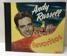 "Andy Russell Favorites Capitol BD 13 Box Set 10"" 4 Records Excellent"