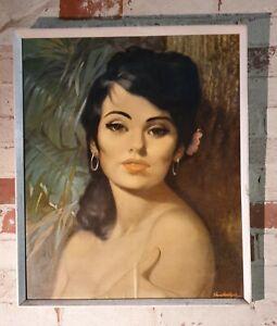 Original 60's Vintage Framed Art Print (JH Lynch, Tretchikoff Era) Vandersyde