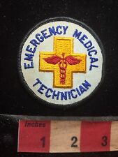 Vtg Rod of Caduceus EMERGENCY MEDICAL TECHNICIAN Patch EMT 77G