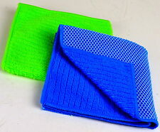 2x Micro Fibre Cloths 30 x 30cm Microfibre Cloth 2 Sided Cleaning Tissues Mikrofiber k1