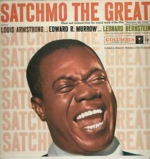 """Louis Armstrong & Edward R. Murrow """"Satchmo The Great"""" 1957 Columbia CL 1077 NM"""