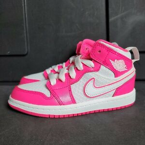 Nike Air Jordan 1 Retro Mid Hyper Pink Basketball shoes 640737-611 Youth Size 3Y