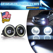 "3.5"" Inch COB LED Fog Light Projector Car White Angel Eyes Halo Ring DRL Lamp US"