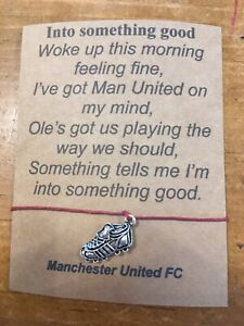 ⚽️Manchester United Football Wish Bracelet with Boot Charm Unique Present Gift⚽️