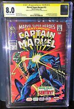 Marvel Super-Heroes # 13 *CGC 8.0* Signed Stan Lee & Roy Thomas*
