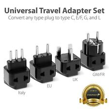 4x Universal Travel Adapter Charger Converter Plug US UK EU Italy Germany France