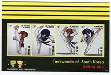 ST. VINCENT & GRENADINES STAMP 2014 TAEKWONDO PHILAKOREA SHEET 4x #3