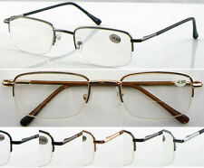 L251 Classic Semi-Rimless Bifocal Reading Glasses/Spring Hinges ***