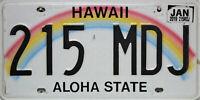 Hawaii  License Plate,  Original Kennzeichen USA   215 MDJ ORIGINALBILD