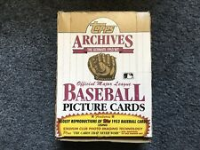 1991 TOPPS ARCHIVES HOBBY BOX WITH 36 PACKS, 1953 TOPPS REPRODUCTIONS PLUS