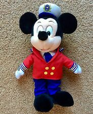 Disney Cruise Line Mickey Mouse Captain Plush Stuffed Animal 14""