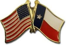 USA American State of Texas Friendship Flag Bike Motorcycle Hat Cap lapel Pin
