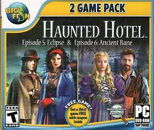 Haunted Hotel Episode : ECLIPSE +  ANCIENT BANE Hidden Object PC Game - New