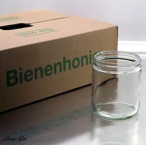 3 x 12 Honiggläser (36 Gläser) 500g im Honigkarton mit Schraubdeckel nach Wahl