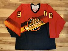 1997 Pavel Bure Vancouver Canucks Red Alternate Third Jersey Salmon Men's Large