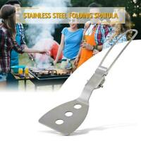 Stainless Steel Folding Spatula Food Turner Outdoor Camping tools Cooking C0G7