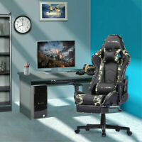 Computer Gaming Chair Office Chair with Footrest Lumbar Massage Support PC Chair