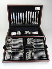 Boxed SILVER OLD ENGLISH THREAD CANTEEN of CUTLERY 84-piece service 8 person set