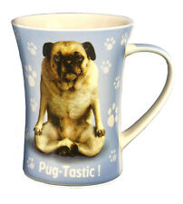 Pug Coffee Mug - Tea Cup - Yoga Pets - Bone China - holds 300ml - Pug-Tastic