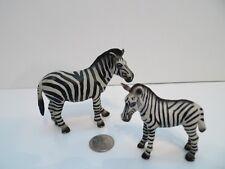 Lot of 2 Schleich 1998 Zebra Female 14148 & Foal 14146 Retired Set !